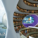 Visualization, library © MVRDV