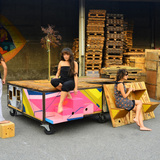 Mobile Urban Square in Turin, Italy by Izmo