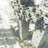 Aerial view of the cloud (Image: Luxigon/MVRDV)