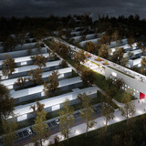 Aerial view, night (Image: CHYBIK+KRISTOF AA)