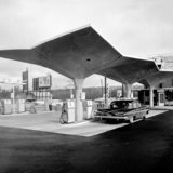 The Diamond Service Station in Macon, Ga., 1961. Credit- Pedro E. Guerrero