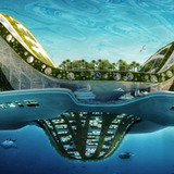 As extreme as Arc Island may have sounded, the floating-island concept isn't new, as seen in architect n Vincent Callebaut's LILYPAD proposal shown here.