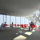 Visualization, cafe interior