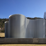 Warm water reservoir for the municipal district heating network in Brixen, Italy by MODUS architects ATTIA-SCAGNOL; Photo- Günter Wett.