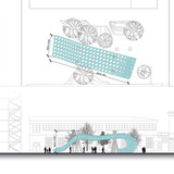 Plan and elevation Winner of the Pavillon Spéciale 2012 Competition Ball Nogues Studio