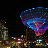 Her Secret is Patience - Phoenix Civic Space Sculpture in Phoenix, Arizona by artist Janet Echelman, posted by Nathaniel Stanton, Structural Engineer and Project Manager for the Phoenix Civic Space Sculpture (Photo: Will Novak)