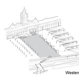 HASSELL + Herzog & de Meuron's winning entry: Western Concourse