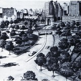 Robert Moses Fifth Avenue Extension. Courtesy of Distributed Art Publishers, Inc.