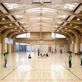 Gymnasium Regis Racine in Drancy, France by ATELIER D'ARCHITECTURE ALEXANDRE DREYSSÉ & Sébastien Muller (Photo: Guillaume Clement / Atelier Dreyssé)