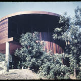 John Lautner's Foster residence in Sherman Oaks, from Pierre Koenig's collection. Image via digitallibrary.usc.edu.
