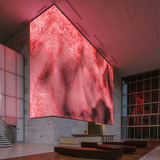 An installation view of Virtual Depictions: San Francisco, a new data sculpture by Refik Anadol. Courtesy of the artist.