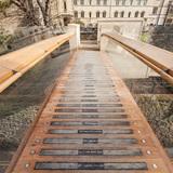 Award for Pedestrian Bridges: Pembroke College Footbridge, Oxford, UK; Structural Designer: Price & Myers; Image: Quintin Lake.