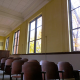 Auditorium restoration, Bancroft School project. Photo credit Taylor Royle.