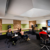 Pratt Institute's Film/Video Department Building includes a state-of-the-art sound recording/mixing studio with surround sound capability. Photo credit: Alexander Severin RAZUMMEDIA