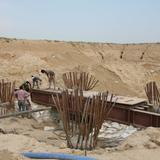 Vrindavan Chandrodaya Mandir, construction photo. (Image: VCM/Wikipedia)