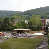 design/buildLAB at Virginia Tech held a dedication ceremony at amphitheatre