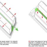 Building massing diagram (Image: Samuel Pitnick)