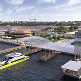 Marine Air Terminal Site. Rendering © New York Governor's Office, via flickr.
