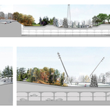 Early concept sections, North Grant Park. Michael Van Valkenburgh Associates, 2011.