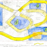 Revised Drawing of Yishudao/Art Islands and Light Loop. Image: Steven Holl Architects.