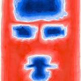 No title [Geometrical face on red background], 2011. Watercolor on cardboard, cm 77 x 56. Property of Studio Calatrava © Santiago Calatrava