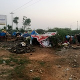 Informal settlement in Hyderabad, India. Photograph courtesy of Subhash Chennuri (report co-author).