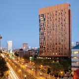 Finalist - Americas: Tree House Residence Hall, Boston, USA by ADD © Peter Vanderwarker