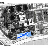 Kristina Cowger | Cowger manipulates and stretches the shape of the NYCHA towers, extruding them into long, single-loaded bars that its on an excavated surface that fills with water during inundation.
