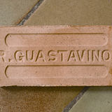 Photo of the reverse side of a Guastavino tile that was manufactured in Woburn, Massachusetts. Photo © Michael Freeman. Courtesy of the Museum of the City of New York