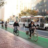 Market St., San Francisco, CA. Image via PeopleForBikes.