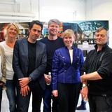 From left to right: Frank Birkebæk (Roskilde Museum / Danish Rock Museum), Lena Bruun (Danish Rock Museum), Jacob van Rijs (MVRDV architects), Dan Stubsgaard (COBE architects), Joy Mogensen (Mayor of Roskilde), Henrik Rasmussen (Roskilde / Roskilde Group), Jesper Oland-Elkjaer (Roskilde...