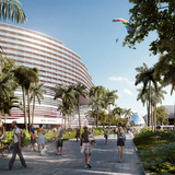 View of the Plaza from the West, Image © OMA