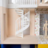 A dolls house made of three-sided rooms by Lifschutz Davidson Sandilands. Photo: Thomas Butler