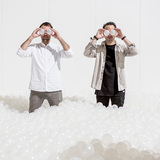 Alex Mustonen and Daniel Arsham of Snarkitecture. Photo by Noah Kalina.