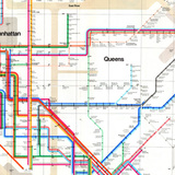 Massimo Vignelli's 1972 New York City subway map