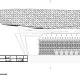 East elevation. Image courtesy of Zaha Hadid Architects.