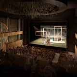 View from the auditorium towards the stage inside the Main Theater (Image: West Kowloon Cultural District Authority)