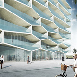 Honeycomb resort by BIG + HKS + MDA. ImageHoneycomb by BIG + HKS + MDA. Image courtesy of BIG. courtesy of BIG.