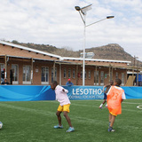 Kids enjoying the pitch at the Lesotho Football for Hope Center. Location: Maseru, Lesotho. Credit: Ana Ramos