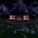 Interior view of the 50,000 seat indoor stadium (Image courtesy of Populous)