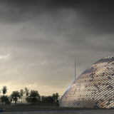 Dusk view (Image courtesy of Mario Cucinella Architects)