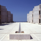 Salk Institute in La Jolla, California. Louis Kahn, 1959-65. The Architectural Archives, University of Pennsylvania. Photo: John Nicolais.