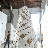 12/8 Tower in Pasadena, CA by Tim Durfee Studio and Andrew Kragness, amp at Media Design Practices / Art Center College of Design; Photo: QiYuan Li Oscar