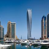 4. Cayan Tower (Dubai, UAE) by SOM with Khatib & Alami. Photo © Tim Griffith / SOM.