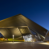 Eli & Edythe Broad Art Museum at MSU by Zaha Hadid architects. © Brad Feinknopf