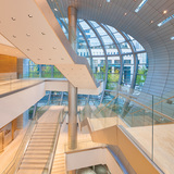 Podium interior - new Federation of Korean Industries HQ. Image courtesy of AS+GG.