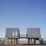 NYC Parks Department Beach Restoration Modular Structures in Brooklyn, Staten Island & Queens, NY by Garrison Architects; Photo: Andrew Rugge/archphoto