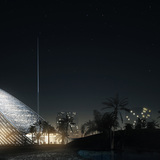 Night view (Image courtesy of Mario Cucinella Architects)