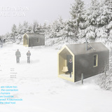 1st Prize – The Whaelghinbran Nomadic Cabin. Designer: Nathan Fisher, B.Arch Sci, M.Arch (Toronto, Ontario, Canada).