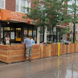 Andersonville parklet in Chicago, by Latent Design.